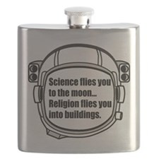 Science flies you to the moon Flask