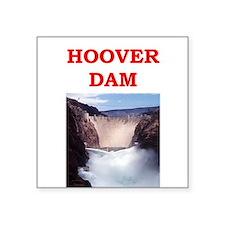 "hoover dam Square Sticker 3"" x 3"""