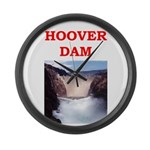 hoover dam Large Wall Clock