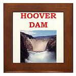 hoover dam Framed Tile