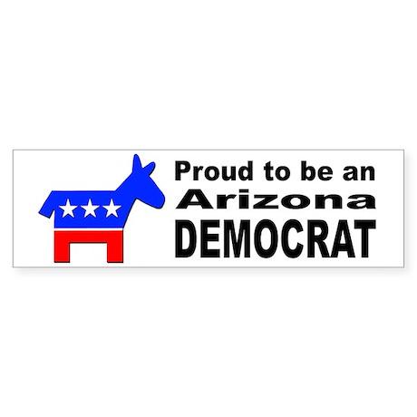 Arizona Democrat Pride Sticker (Bumper)