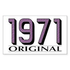 1971 Original Rectangle Decal