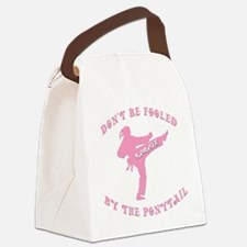 old tae kwon do(pink).png Canvas Lunch Bag