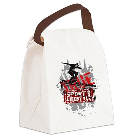 skateboarding.png Canvas Lunch Bag