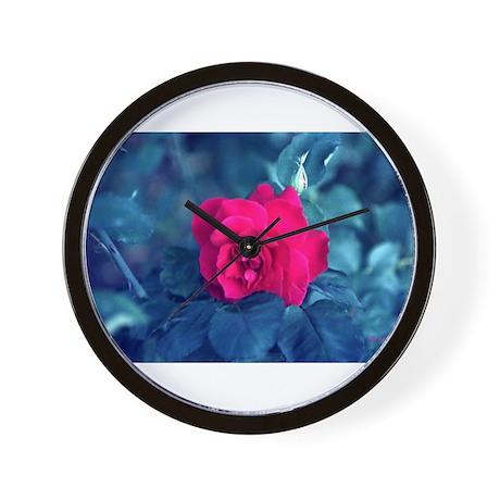 Royal Red Rose Wall Clock