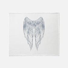 wings on back Throw Blanket