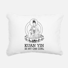 Kuan Yin Is My Om Girl Rectangular Canvas Pillow