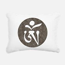 Tibetan Om Rectangular Canvas Pillow
