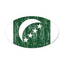 Comoros Roundel Oval Car Magnet