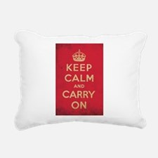 Keep Calm And Carry On Rectangular Canvas Pillow