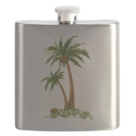 Captivating Twin Palm Tree Flask
