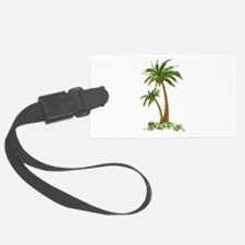 Twin Palm Tree Luggage Tag