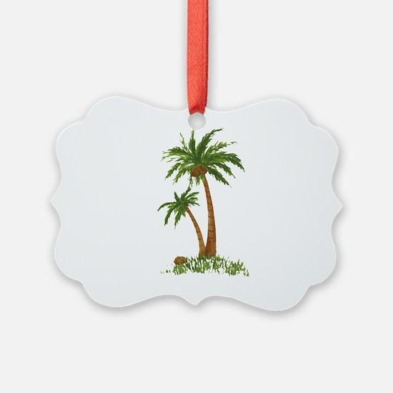 Twin Palm Tree Ornament