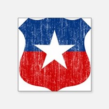 "Chile Roundel Square Sticker 3"" x 3"""