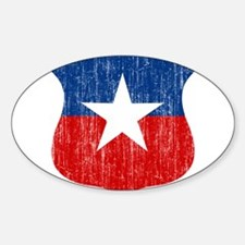 Chile Roundel Sticker (Oval)