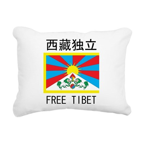 Free Tibet In Chinese Rectangular Canvas Pillow