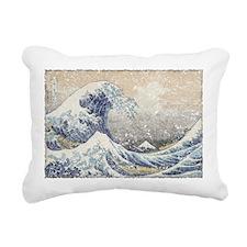 Japan Big Wave Rectangular Canvas Pillow