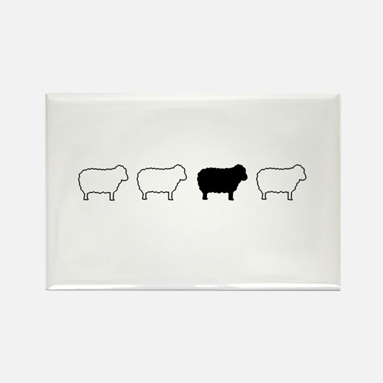 black sheep Rectangle Magnet