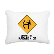 Beware Of Karate Kick Rectangular Canvas Pillow