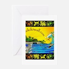 Waikiki Wall Greeting Card