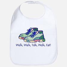 Walk, Talk, Eat Bib