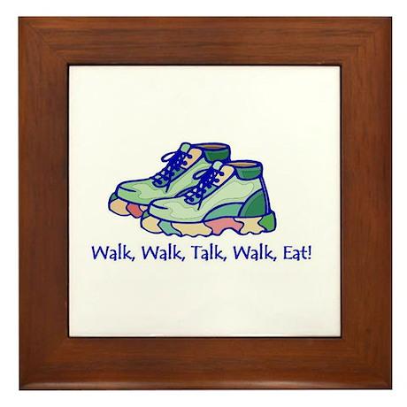 Walk, Talk, Eat Framed Tile