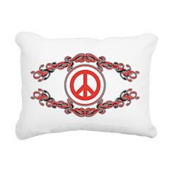 Stylized Peace Rectangular Canvas Pillow