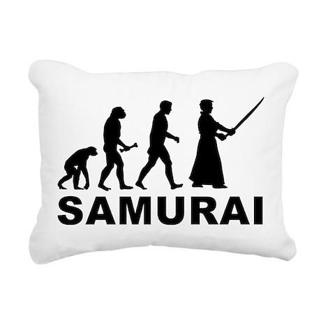 Samurai Evolution Rectangular Canvas Pillow