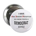 Democratic Asshole Button