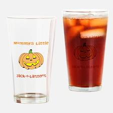 Mommys Little Jack-o-Lantern Drinking Glass