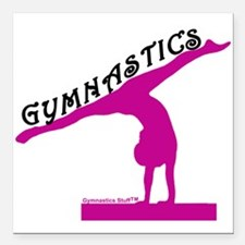 """Gymnastics Square Car Magnet 3"""" x 3"""""""