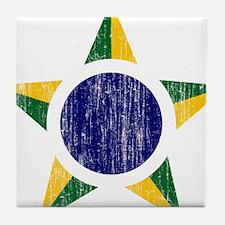 Brazil Roundel Tile Coaster