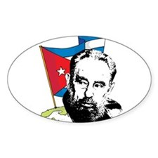 Fidel Castro Oval Decal