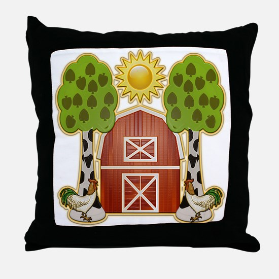 Chickens at Noon Throw Pillow