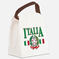 italian pride(blk).png Canvas Lunch Bag