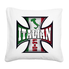 italy T-Shirt.png Square Canvas Pillow