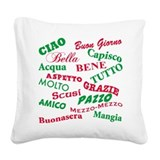 Italian Square Canvas Pillows