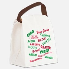 Italian sayings T-Shirt.png Canvas Lunch Bag