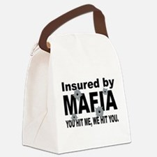 Italian INSURED BY MAFIA(BLK).png Canvas Lunch Bag
