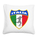 2-italia soccer.png Square Canvas Pillow