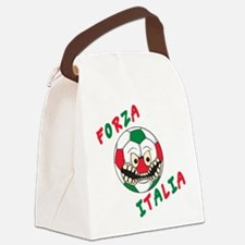 forza azzurri (blk).png Canvas Lunch Bag