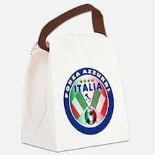 Forza azzurri(blk).png Canvas Lunch Bag
