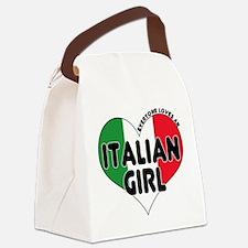Italian girl T-Shirt.png Canvas Lunch Bag