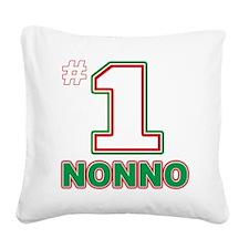 2-nonno(blk).png Square Canvas Pillow