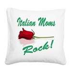italian moms (white).png Square Canvas Pillow