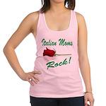 italian moms (white).png Racerback Tank Top