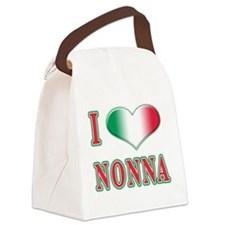 i Love Nonna A(white).png Canvas Lunch Bag