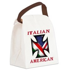 Italian american(blk).png Canvas Lunch Bag