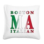 3-Boston Italian.png Square Canvas Pillow