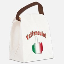 Italian vaffanculo(white).png Canvas Lunch Bag